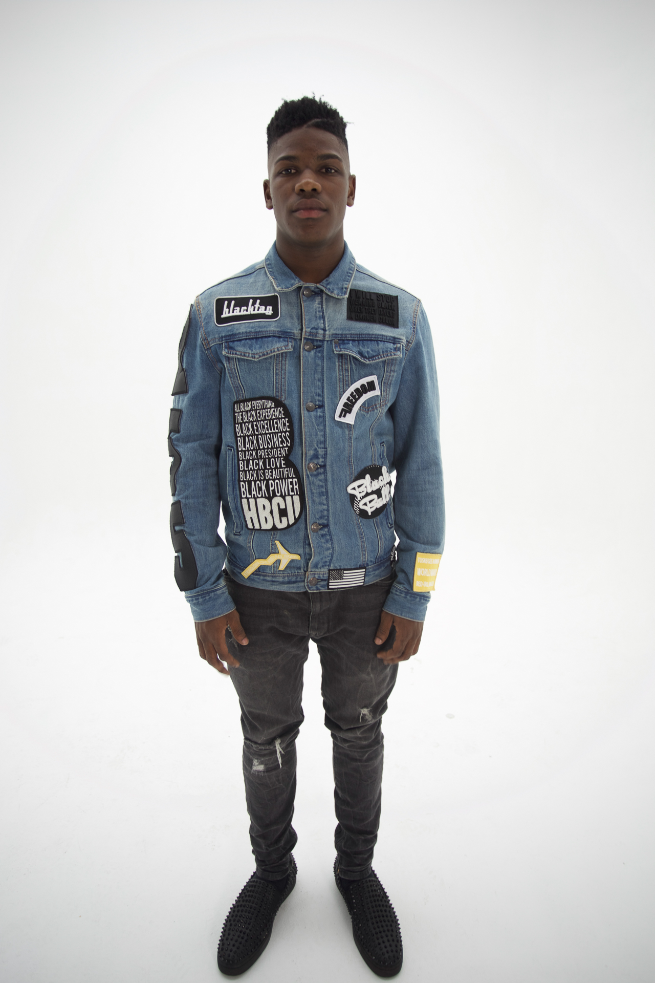 4c906572c Black King Denim Jacket | Men's and Women's Sweaters and Tees